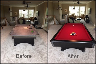 Pool Table Recovering In Reno NV Professional Pool Table Refelting - Reno pool table